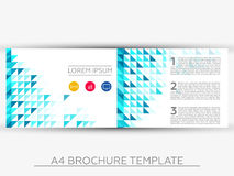 A4 Abstract Business Brochure Template. Editable Brochure Template Vector Design Royalty Free Stock Photo