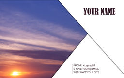 Abstract Business Card Background Royalty Free Stock Image