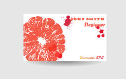 Abstract business card background design. Blue watercolor texture Stock Photos