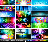 Abstract Business Card Collection- Set 3. Abstract Business Card Collection: Flow of lights - Set 3 Stock Photos