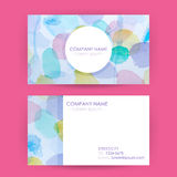 Abstract Business Card Concept Watercolor Splashes Background Stock Photos