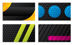 Abstract business card designs. Abstract business card design set Stock Photography