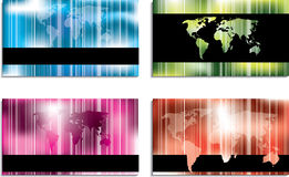 Abstract business card designs with stripes. Abstract business card designs with striped world vector illustration