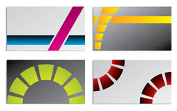 Abstract business card set Royalty Free Stock Photos