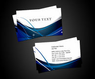 Abstract business card set. Vector abstract business card set, elements for design Stock Photos