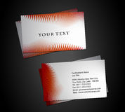 Abstract business card set Royalty Free Stock Photography