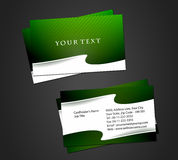 Abstract business card set. Vector abstract wave business card set, elements for design Stock Photo