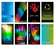 Abstract Business Card Set. Collection of modern flashy business card layouts Stock Photos