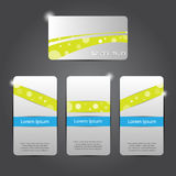 Abstract business card set Royalty Free Stock Images