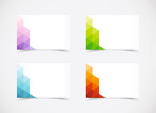 Abstract Business Card Set. Vector made in illustrator Royalty Free Stock Photography
