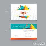 Abstract Business card Template Stock Photos