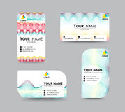 Abstract business card template with sample name position. city Royalty Free Stock Image