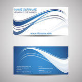 Abstract business card template or visiting card set Stock Images