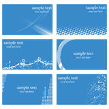 Abstract business card templates Royalty Free Stock Photo