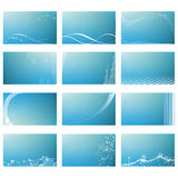 Abstract business card templates Royalty Free Stock Photos