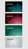 Abstract business cards Royalty Free Stock Photos