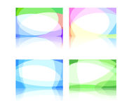 Abstract business cards collection Royalty Free Stock Images