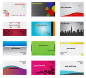 Abstract business cards set Stock Images