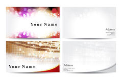 Abstract business cards template Royalty Free Stock Photos