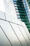 Abstract business center. Blue and green, interesting shapes, building Royalty Free Stock Photos