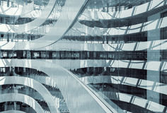 Abstract business centre interior design Royalty Free Stock Image