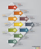 Abstract business chart. 10 Steps diagram template/graphic or website layout. Vector. Step by step idea. Stock Photography