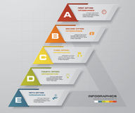 Abstract business chart. 5 Steps diagram template/graphic or website layout. Vector. Step by step idea. EPS10 vector illustration