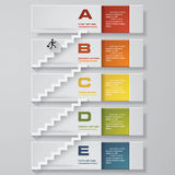 Abstract business chart. 5 Steps from lower to upper steps. diagram template. Vector. Step by step idea. Abstract business chart. 5 Steps from lower to upper stock illustration