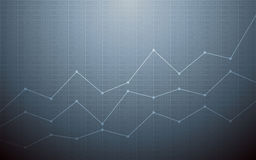 Abstract Business chart with uptrend line graph and stock numbers on gray color background Stock Photo
