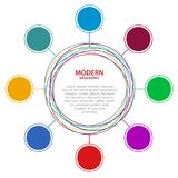 Abstract  Business circle infographics. Royalty Free Stock Images