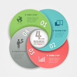 Abstract business circle Infographics origami style. Royalty Free Stock Photos