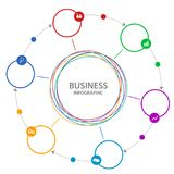 Abstract  Business circle infographics. Stock Image