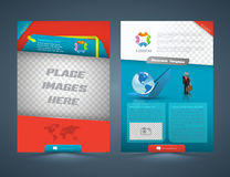 Abstract business concept Brochure Flyer design Stock Images