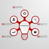 Abstract business concept infographic template. Lightbulb idea. Royalty Free Stock Image