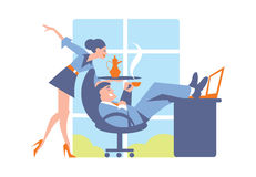 Abstract business concept of office life Stock Image
