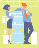 Abstract business concept of office life Stock Photography