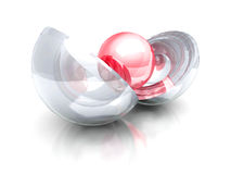 Abstract business concept red center sphere Royalty Free Stock Photo