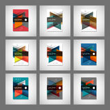 Abstract business Flyer design vector template in A4 size. Annual report or book cover. Simple style front page brochure Royalty Free Stock Photo