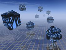 Abstract - Business Future. 3D abstract of business moving into the future Royalty Free Stock Photo