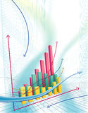 Abstract business graph Royalty Free Stock Image