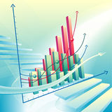 Abstract business graph Stock Image