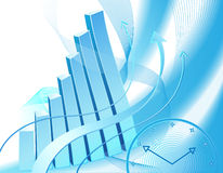 Abstract business graph Stock Photos