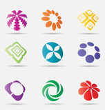 Abstract business icon collection Royalty Free Stock Photos