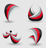 Abstract business icon set Royalty Free Stock Photo