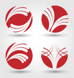 Abstract business icon set Royalty Free Stock Photography