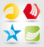 Abstract business icon set Royalty Free Stock Photos