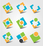 Abstract business icons Royalty Free Stock Image