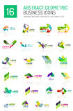 Abstract business icons Stock Photos