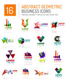 Abstract business icons Stock Photo