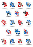 Abstract business icons and symbols templates Stock Photos